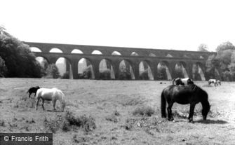Chirk, the Viaduct and the Aqueduct 1959