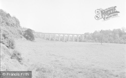 Chirk, The Viaduct From Pontfaen 1959