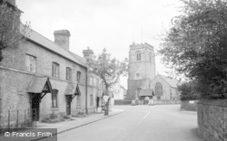 Chirk, The Village And Church 1939