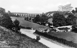 Viaduct From Glyn Valley c.1880, Chirk