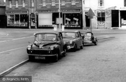 Morris Minor And Mini Cars c.1965, Chobham