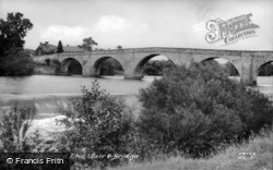 The Weir And Bridge c.1955, Chollerford