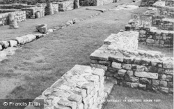 Chollerford, Two Barracks In Chesters Roman Fort c.1955