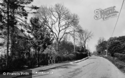 Cholsey, The Straight Mile c.1960