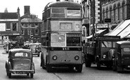 Christchurch, High Street, the Trolleybus c1950