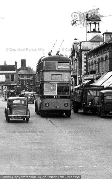 Photo of Christchurch, High Street, the Trolleybus c1950