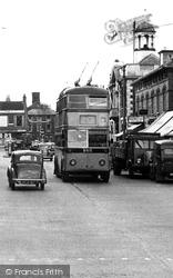 High Street, The Trolleybus c.1950, Christchurch