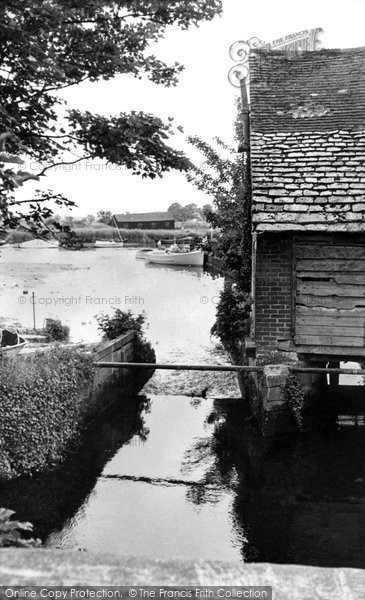 Christchurch,Place Mill and Christchurch Quay c1960,Dorset