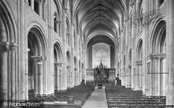 Priory Church, The Nave 1918, Christchurch