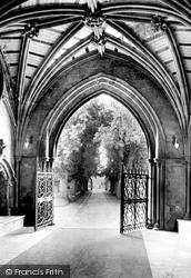 Priory Church, The North Porch 1918, Christchurch