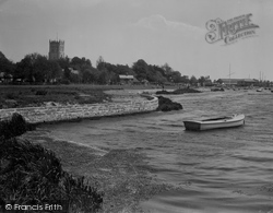 Christchurch, Priory From The River Stour 1934