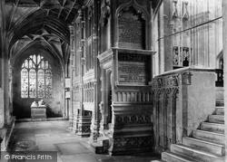 Priory, North Choir Aisle & Salisbury Chantry 1890, Christchurch