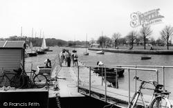 The Boat Hire Pontoon At Christchurch Quay c.1960, Christchurch