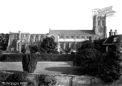 Christchurch, The Priory Church From The Castle 1906