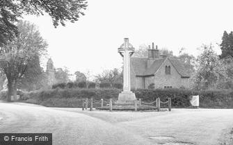Church Crookham, the War Memorial c1955