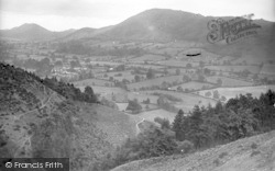 Church Stretton, The Caradoc Range Across Cwm Dale c.1935