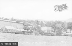 Church Village, View Of The Church c.1955