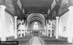 The Church Interior c.1960, Churchstoke