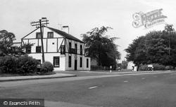 Horns Inn And Church Road c.1960, Churchtown