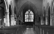 Churchtown, St Helen's Church, interior c1955