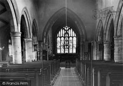 St Helen's Church, Interior c.1955, Churchtown