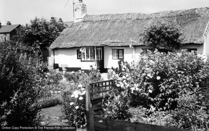 Photo of Churchtown, Thatched Cottages c.1965