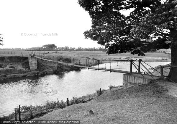 Churchtown, the Swing Bridge and River Wyre c1955
