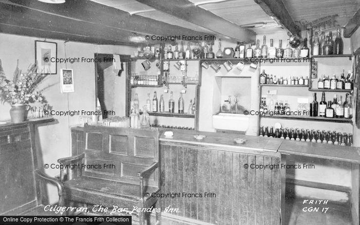 Photo of Cilgerran, The Pendre Inn Bar c.1955