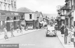 Cinderford, High Street c.1955