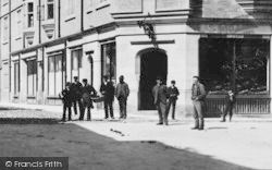 Cirencester, Boys And Men, Castle Street 1898