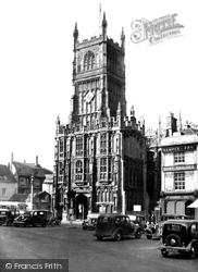 Cirencester, Church Of St John The Baptist And Town Hall c.1955