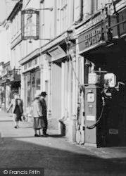Cirencester, Petrol Pump, Market Place c.1955