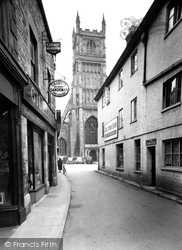 Cirencester, St John's Church And Blackjack Street c.1955