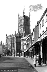 Cirencester, St John's Church And Town Hall c.1950