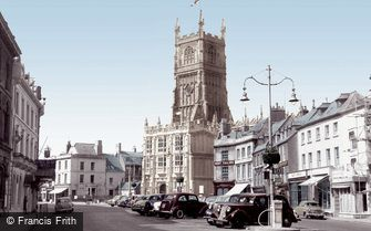 Cirencester, the Market Place c1960