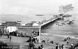 Clacton-on-Sea, Pier With Belle Steamer 1907