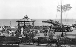 Clacton-on-Sea, The Bandstand And The Pier 1907, Clacton-on-Sea