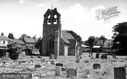 St James' Church c.1955, Clanfield