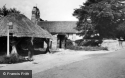 The Well And Church c.1955, Clanfield