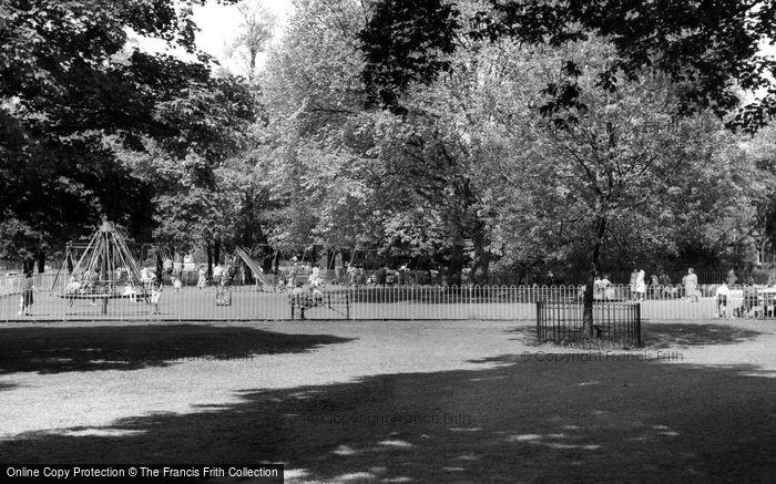 Clapham, Childrens Playground, the Common c1965