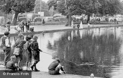 Common Pond, Boys Fishing c.1955, Clapham