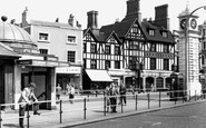 Clapham, The Plough and Clock Tower c1960