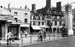 The Plough And Clock Tower c.1970, Clapham