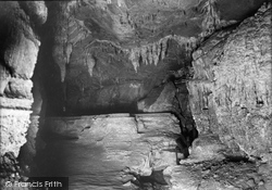 The Stalagmitic Barrier Called The Fortification, Ingleborough Cave 1921, Clapham