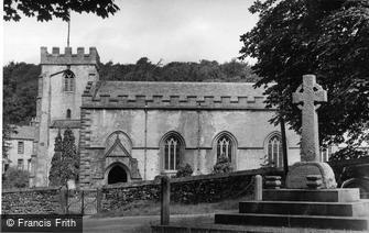 Clapham, War Memorial and St James' Church c1955