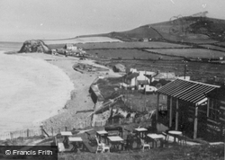 Clarach Bay, The Village And Beach c.1955
