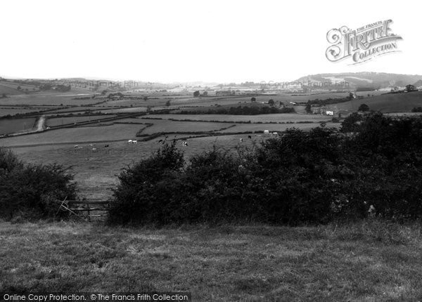 Claughton, view from the Bank towards Hornby c1955