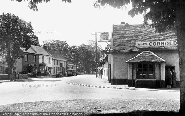 Claydon, Main Road c1955