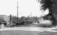 Claydon, the Village from Claydon Hill c1955