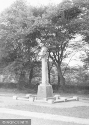 Cleator Moor, War Memorial At St John's Church c.1965